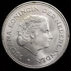 オランダ 1970年 10ギルダー 大型銀貨
