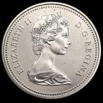 カナダ 1971年 1ドル 大型銀貨 ブリティッシュコロンビア エリザベス
