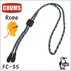 チャムス メガネチェーン Rope ロープ FC-35 ネイビー柄 スットパー付きグラスコード