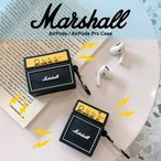 Marshall アンプ AirPods AirPods Pro ケース ブラック マーシャル エアポッズ プロ カバー ワイヤレス イヤホン ヘッドホン iPhone