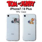 SALE トムとジェリー iPhone7 Plus iPhone8 Plus  クリアケース トムアンドジェリー アイフォンケース