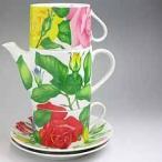 カップ&ソーサー ティーカップ コーヒーカップティーポット イタリア TAITU Tea For Two ローズ