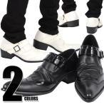お兄系/メンズ/靴/BOREDOM(ボアダム)ウイングチップエナメル切り替えベルトスリッポンシューズ/V系/ミュール/Vホス/ホスト/メンナク/紳士靴