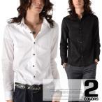 お兄系 シャツ メンズ/garson wave(ギャルソンウェーブ)サテンシャドーストライプドレスシャツ/長袖 光沢 ドレス ホスト V系 Vホス ファッション キレイめ