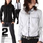 お兄系 ビジカジ メンズ シャツ/Garson Wave(ギャルソンウェーブ)ダブルカラーボタンダウンチェックデザインストライプシャツ/二枚襟 二重襟 ブロードシャツ