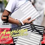 BITTER クラッチバッグ メンズ 鞄 スウェット アメリカ 国旗/星条旗柄スウェットクラッチバッグ/セカンドバッグ ハンドバッグ カバン バッグ アメリカ国旗 軽量