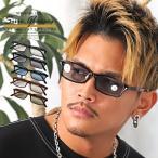 サングラス メンズ レディース グラサン スクエア UVカット 伊達眼鏡 オシャレ 小物 ビター系