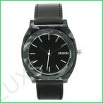 Nixon Women's A328-039 Leather Synthetic with Black Dial Watch 並行輸入品