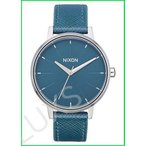 NIXON Kensington Leather A108 - Peacock - 50m Water Resistant Women's Analog Classic Watch (37mm Watch Face, 16mm Leather Band) 並行輸