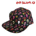 69SLAM/メンズ CAP 69SLAM HIBISCUS SKULL  キャップ 帽子 ロックスラム  【正規品】ボクサーパンツ^^ロングヒット