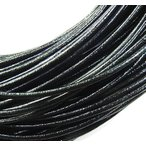 牛革紐 丸線 (ブラック) 1.0mm/1.5mm/2.0mm 1m/売り