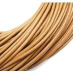 牛革紐 丸線 (タン) 1.0mm/1.5mm/2.0mm 1m/売り
