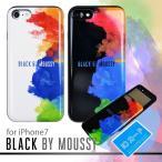 スマホケース iPhone8 7 BLACKBYMOUSSY ブラックバイマウジー シェルケース スプレー ブランド IC カード収納