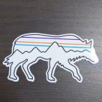 【pa-89】patagonia sticker パタゴニア ステッカー BACK FOR GOOD WOLF バックフォーグッドウルフ