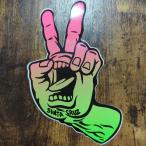【ST-96】VANS バンズ スケートボード ステッカー OFF THE WALL レッド プクプクタイプ sticker