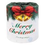 クリスマスプリント トイレットペーパー 1ロール ダブル 1個 65円 100個セット バラ発送不可