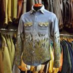 Rockmount (ロックマウント) フリースウエスタンシャツ ブルー