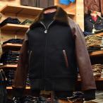 WHITESVILLE (ホワイツビル) ムートンカラー アワードジャケット WV13083 ブラック