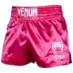 VENUM ムエタイトランクス MUAY THAI SHORTS CLASSIC (ピンク×ホワイト) //キックパンツ ボクシング トランクス スポーツウェア 格闘技 送料無料
