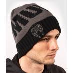 VENUM ニットキャップ ELITE BEANIE (グレー×ブラック) //メンズ 帽子 ニット帽 防寒 ぼうし スノボ スノーボード キャップ スポーツ 送料無料