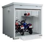 イナバ物置 バイク保管庫 FXN-2234HY ハイルーフ 一般型 床付タイプ (大型商品にて発送不可のため、近畿圏のみの販売商品です。)