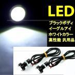 イーグルアイ LED デイライト スポットライト フォグ ブラックボディ 埋込ボルト固定 防水 1球 汎用品 DIY 送料無料