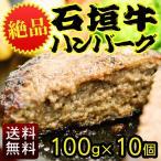 (送料無料)石垣牛ハンバーグ 100g×10個 (冷凍) │黒毛和牛ハンバーグ│