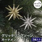 クリスマスツリー オーナメント グリッタリングソーン 3個セット ベツレヘム
