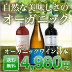 ワインセット 5本セット オーガニック 赤ワイン 白ワイン スパークリングワイン オーガニックワイン 5本セット【酒類】