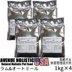 リパック品 アベニュー ホリスティック USA ラム&オートミール 成犬用 4kg(1kg×4袋)