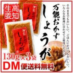 万能おかず生姜 130g×3袋 四国健商 高知県 国産 甘酢 しょうが 生姜 エキス 調味料 漬け 食べる生姜 おかず生姜 ごはんのおとも シューイチで放映されました