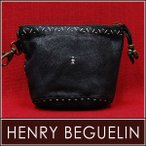 HENRY BEGUELIN エンリーベグリン PENNY RICAMI ポーチ(PP0033023 NERO)