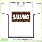 ヒョウ柄セーリングTシャツ ドライスポーツT-shirt (白)