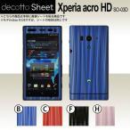 Xperia acro HD SO-03D  専用 デコ シート decotto 外面セット 【 ディープウェーブシート 柄】