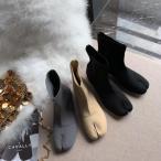 足袋ブーツ ソックスブーツ ニットブーツ ストレッチブーツ 太ヒール 疲れない カジュアル シンプル きれいめ こなれ感 秋冬 デート お出かけ