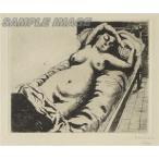 ポール・デルヴォー「眠る裸婦」(版画)【額縁無し】[A030003]Paul Delvaux
