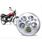 モンキー 系 バイク 汎用 LED ヘッド ライト 30W / RGB ポジション 球 2灯 付き