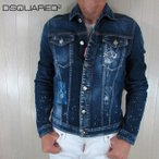 ディースクエアード DSQUARED2 メンズ デニムジャケット ブルゾン Gジャン S74AM0881 / 470 / ブルー サイズ:46〜52