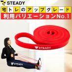 トレーニングチューブ 赤 強度ソフト トレーニング動画付 ゴムバンド エクササイズバンド フィットネスチューブ 筋トレチューブ STEADY ST108