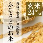 米 24kg 玄米 8kg×3袋小分け 平成29年 青森県産 ふるさとのお米