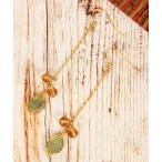 【ワイスチャーム】【こっくり色濃い秋アクセ】木の実グリーンチェーンピアス