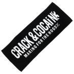 クラック&コカイン CRACK&COCAINE ロゴ タオル LOGO TOWEL [BLACK] /【レターパックプラス可】