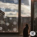 ウォールステッカー クリスマス 飾り 雪の結晶 クリスマスツリー オーナメント ツリー サンタ サンタクロース リース ガーランド