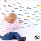 ウォールステッカー はがせる シール 壁紙  飾り 海 魚 新・いにしえの魚群