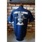 ラングリッツレザーズ Langlitz Leathers  S/S Tee Type LL253 [ネイビー×オフホワイト]