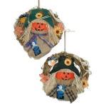 パンプキンリース 2個セット 直径30cm ハロウィン リース 装飾 雑貨