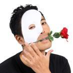 半分仮面 白 オペラ座の怪人風 仮面 ハーフマスク ハロウィン 仮装 お面 マスク コスプレ 小道具 ホワイト