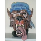 おばあさんウルフ【赤ずきんの狼マスク】アニマル動物かぶりもの奉仕品