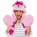 チシャ猫 ムービングモコモコフード ハロウィン 仮装 グッズ かぶりもの チェシャ猫