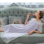 ネグリジェ 夏用 姫 ネグリジェ ワンピース レース ロングネグリジェ シースルー 可愛い ネグリジェ ルームウェア パジャマ レディース 大人可愛い オシャレ 4色